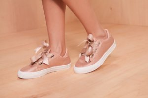 TENIS-1011 ROSE/CHOCOLATE CETIM