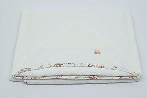 Toalha Capuz - Floral linho