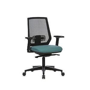 Cadeira Escritório Giratória Lead Diretor Preta