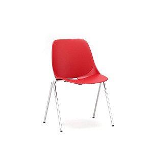 Cadeira Escritório Fixa Indie Secretária Cromada