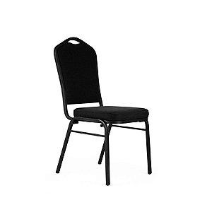 Cadeira Fixa Celebrate Preta Empilhável