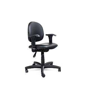 Cadeira Escritório Giratória Lux Secretária Executiva Preta