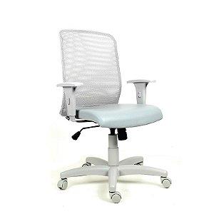Cadeira Escritório Giratória Sit Diretor Cinza