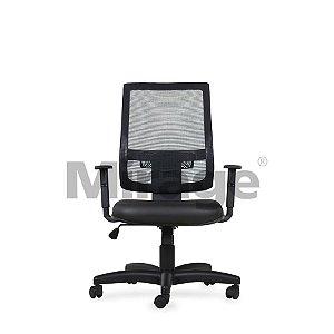 Cadeira Escritório Giratória Diretor Preta