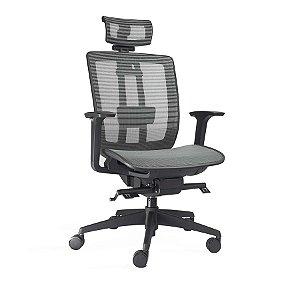 Cadeira Escritório Giratória Vector Presidente Preta