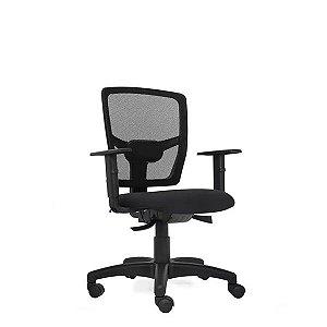 Cadeira Escritório Giratória Sit Secretária Back System Preta