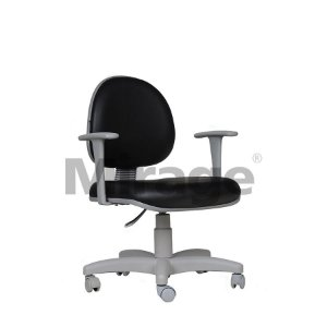 Cadeira Escritório Giratória Secretária Cinza