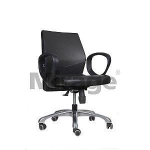 Cadeira Escritório Giratória Slim Diretor Alumínio