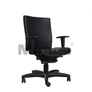 Cadeira Escritório Giratória Elite Diretor Preta