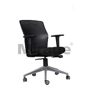 Cadeira Escritório Giratória Zaire Diretor Alumínio