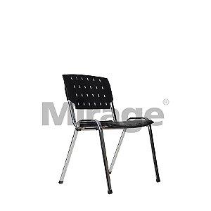 Cadeira Escritório Fixa Secretária Cromada