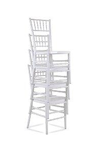 Kit com 50 Cadeiras Fixas Tiffany Brancas Empilháveis