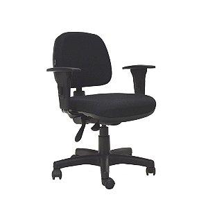 Cadeira Escritório Giratória GLB1 Diretor Back System Preta