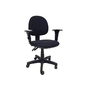 Cadeira Escritório Giratória GLB3 Secretária Preta Silmples