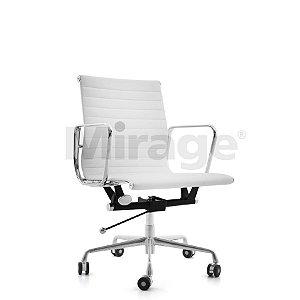 Cadeira Escritório Giratória Alluminum Diretor Branca