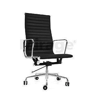 Cadeira Escritório Giratória Alluminum Presidente Preta