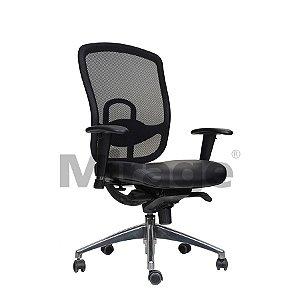 Cadeira Escritório Giratória Director Diretor Alumínio