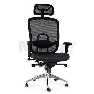 Cadeira Escritório Giratória Director Presidente Preta