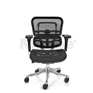 Cadeira Escritório Giratória New Ergo Diretor Preta