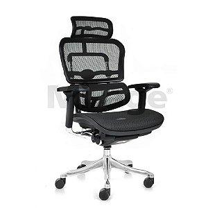 Cadeira Escritório Giratória New Ergo Presidente Preta