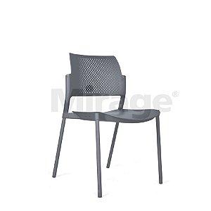Cadeira Escritório Fixa Secretária Cinza