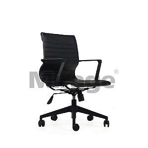 Cadeira Escritório Giratória Ômega Diretor Preta