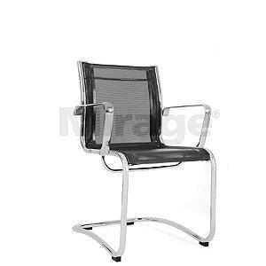 Cadeira Escritório Fixa Skynet Diretor Preta
