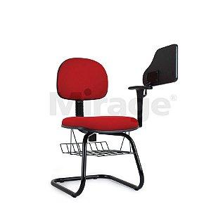 Cadeira Escritório Fixa Pop Secretária Escolar Preta
