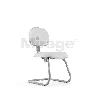Cadeira Escritório Fixa Pop Secretária Cinza