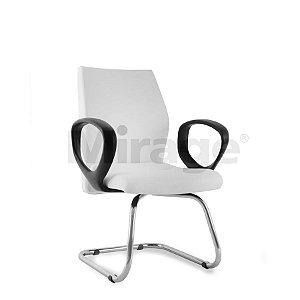 Cadeira Escritório Fixa Contínua Slim Diretor Cromada