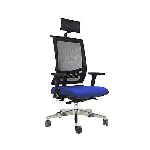 Cadeira Escritório Giratória Versalhes Presidente Alumínio
