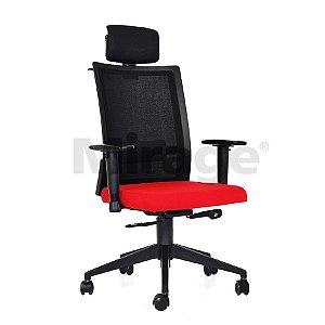 Cadeira Escritório Giratória Sigma Presidente Preta