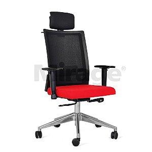 Cadeira Escritório Giratória Sigma Presidente Alumínio