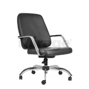 Cadeira Escritório Giratória Max Diretor Cromada