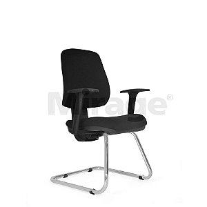 Cadeira Escritório Fixa Tech Plus Diretor Cromada