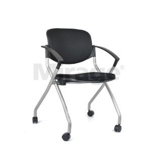 Cadeira Escritório Giratória Clip Cinza