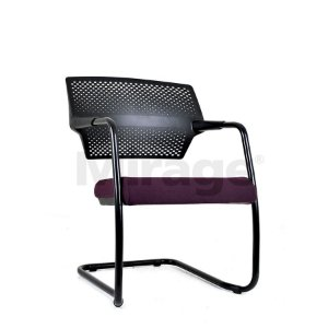 Cadeira Escritório Fixa Zaire Diretor Preta
