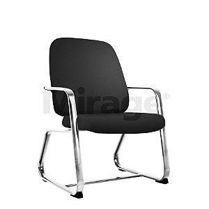Cadeira Escritório Fixa Max Diretor Cromada