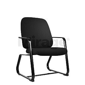 Cadeira Escritório Fixa Max Diretor Preta