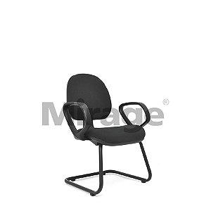 Cadeira Escritório Fixa Tech Pro Diretor Preta Certificada