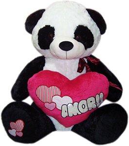 Pelúcia Gigante - Panda com coração amor