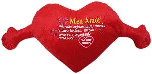 Coração Gigante com Frase Vermelho
