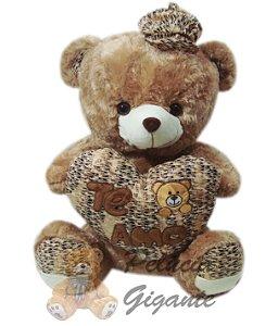Urso de Boné com Coração Te Amo