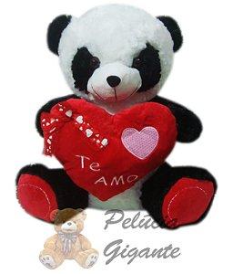 Panda com um lindo coração te amo