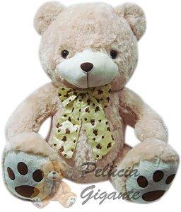 Urso Marrom Claro de Laço