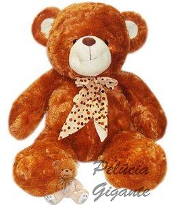 Pelúcia Gigante - Urso de Pelúcia com Laço de bolinha