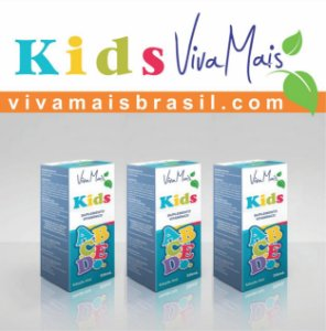 Viva Mais KIDS ABCDE 30 ml | Kit com 90 ml