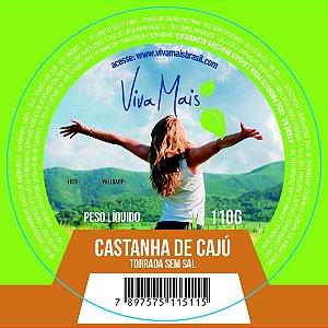 CASTANHA DE CAJU TORRADA SEM SAL | 110 GRAMAS
