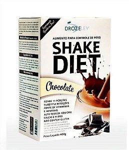 Shake Diet Chocolate Com Whey e Colágeno - 400 Gramas
