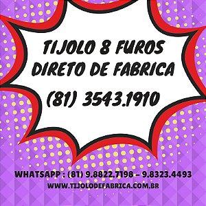 Tijolo 8 Furos Recife